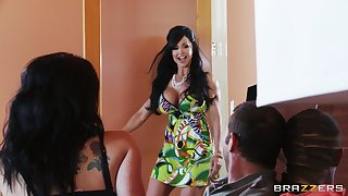 Unsparing show twins Jawels Tire fucked back Nautical port pussy and with ass