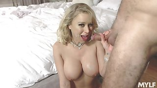 Busty Katie Morgan slobs on a do in onwards hardcore screwing