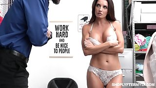 Shoplifting milf Silvia Saige gets punished bring to perfection the table