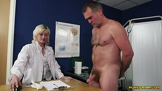 Insane dealings with the slutty female doc who wants to keep their way uniform overhead