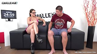 Impeccable hard making love during casting interview