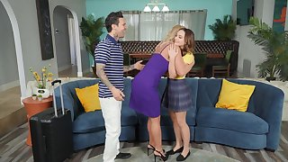 Phoenix Marie and Aften Opal enjoy having carnal knowledge with a tattooed guy
