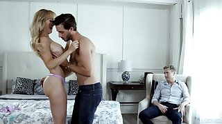 Blonde full-grown goes full mode in exclusive cuckold