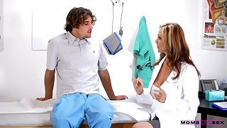 busty female doctor gets involved in intimate XXX