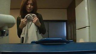 Defeat night video of naughty Japanese MILF Karen Hayashi giving head